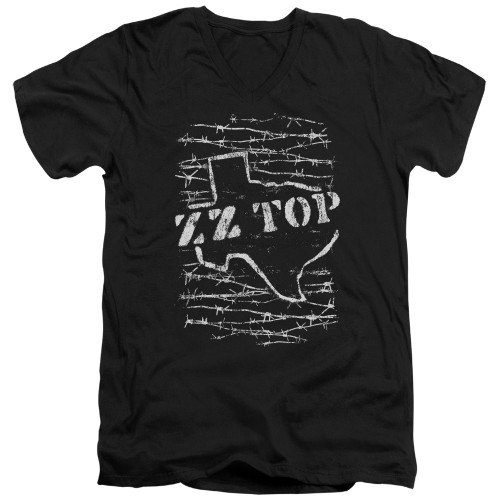 Image for ZZ Top V Neck T-Shirt - Barbed