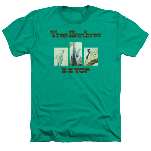 Image for ZZ Top Heather T-Shirt - Tres Hombres