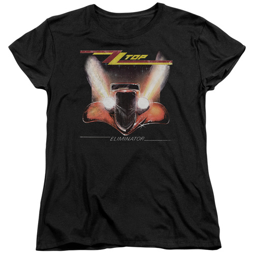 Image for ZZ Top Womans T-Shirt - Eliminator Cover
