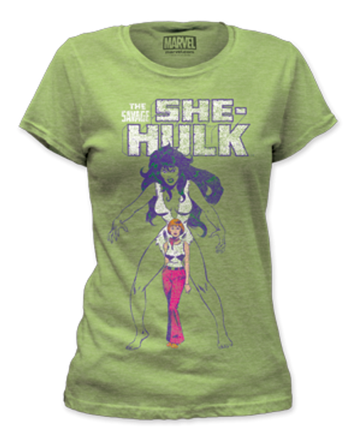 Image for The Savage She Hulk Girls T-Shirt
