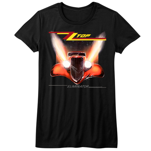 Image for ZZ Top Girls T-Shirt - Eliminator Classic Cover
