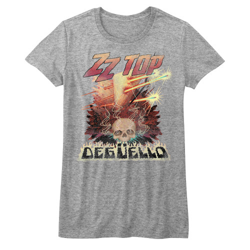Image for ZZ Top Girls T-Shirt - Deguello Heather Classic Cover