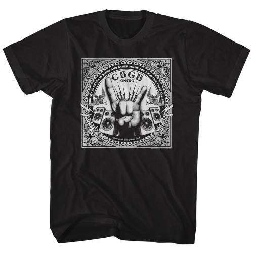 Image for CBGB Rock Hand T-Shirt