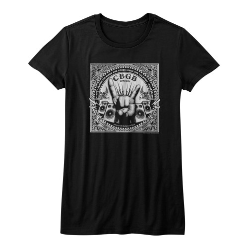 Image for CBGB Girls T-Shirt - Rock Hand