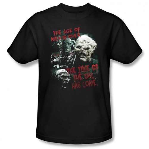 Image Closeup for Lord of the Rings the Time of the Orc has Come T-Shirt LOR3010-AT