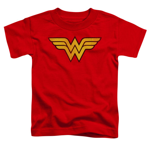 Image for Wonder Woman Classic Distressed Logo Toddler T-Shirt