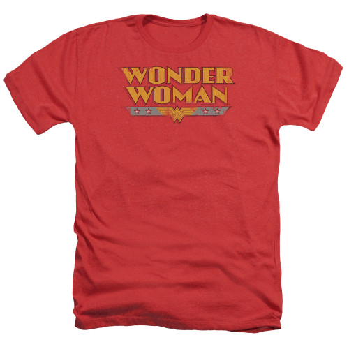 Image for Wonder Woman Heather T-Shirt - Distressed Title Logo
