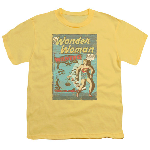 Image for Wonder Woman Youth T-Shirt - Wanted