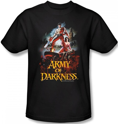 Image Closeup for Army of Darkness T-Shirt - Bloody Poster