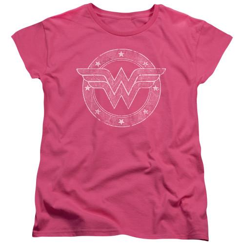 Image for Wonder Woman Womans T-Shirt - Tattered Emblem