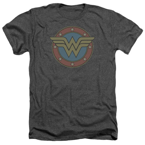 Image for Wonder Woman Heather T-Shirt - Vintage Emblem
