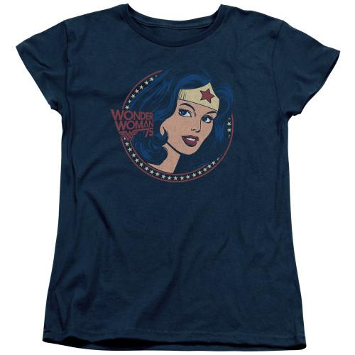 Image for Wonder Woman Womans T-Shirt - Starburst Portrait