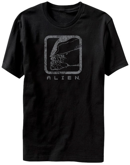 Image for Alien Distressed Box T-Shirt