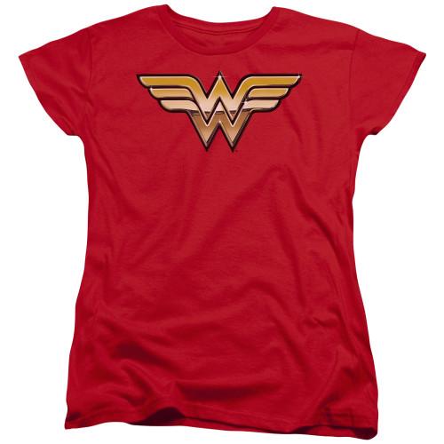 Image for Wonder Woman Womans T-Shirt - Golden Logo