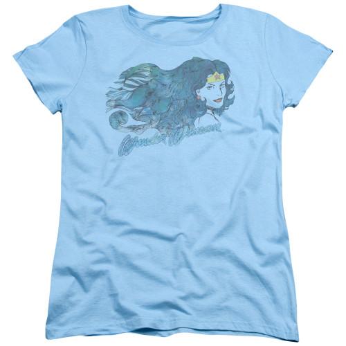 Image for Wonder Woman Womans T-Shirt - Watercolor Hair