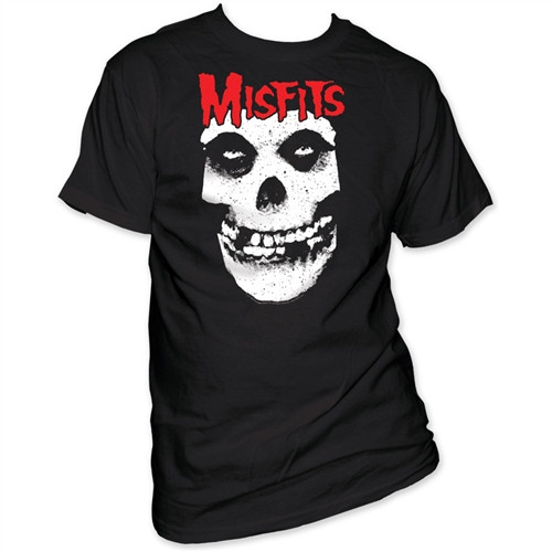 Image Closeup for Misfits Red Logo Skull T-Shirt
