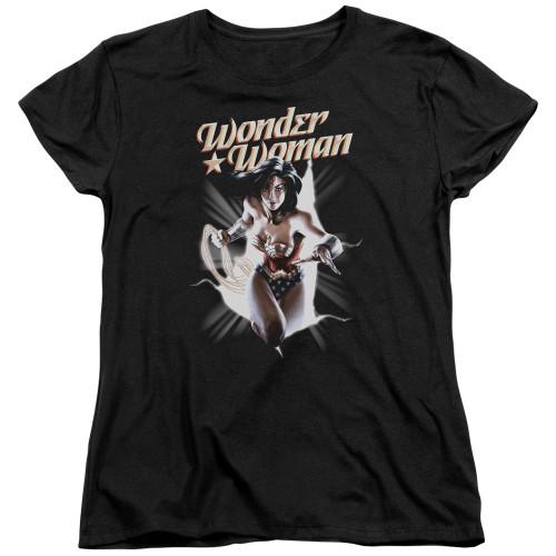 Image for Wonder Woman Womans T-Shirt - Break Out