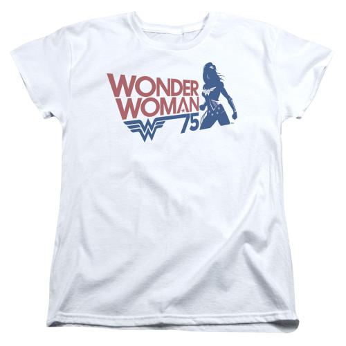 Image for Wonder Woman Womans T-Shirt - 75 Silhoutte