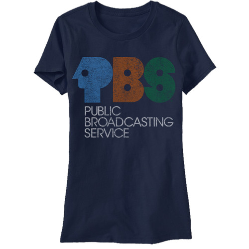 Image for PBS Vintage 70's Logo Juniors T-Shirt
