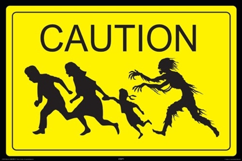 Image for Zombie Poster - Caution Zombies