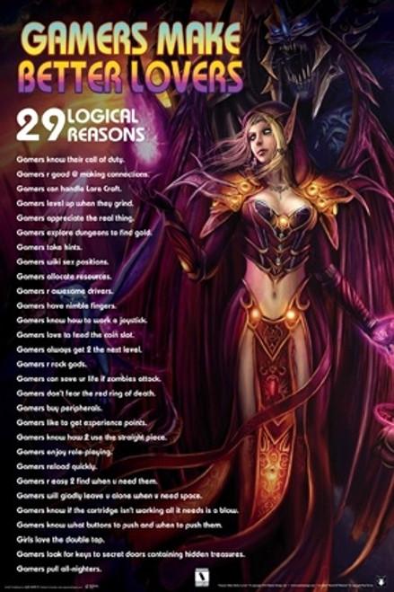 Image for Gamers Make Better Lovers Poster