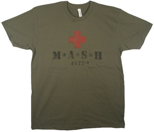 Image Closeup for Mash Red Cross Logo T-Shirt