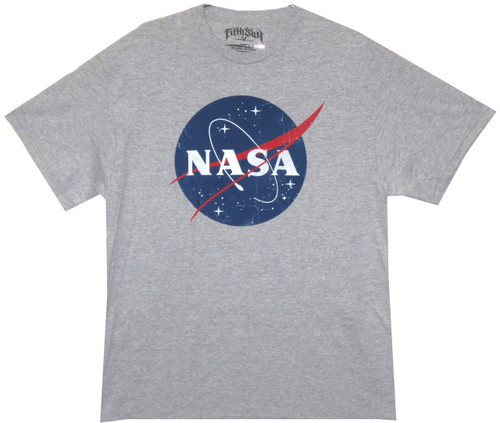 Image for Distressed NASA Logo T-Shirt