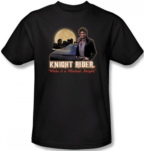 Image Closeup for Knight Rider Full Moon T-Shirt