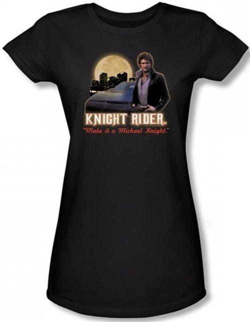 Image for Knight Rider Full Moon Girls Shirt