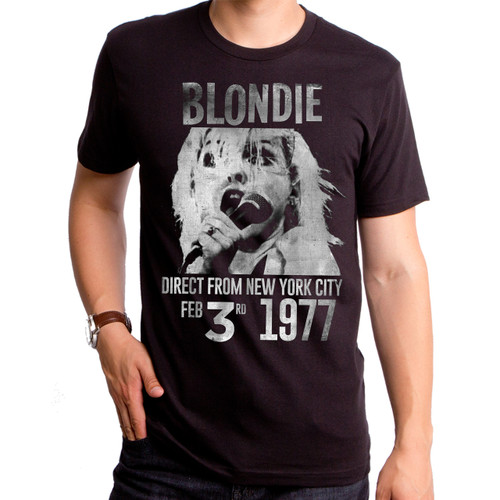 Image for Blondie 1977 Direct T-Shirt