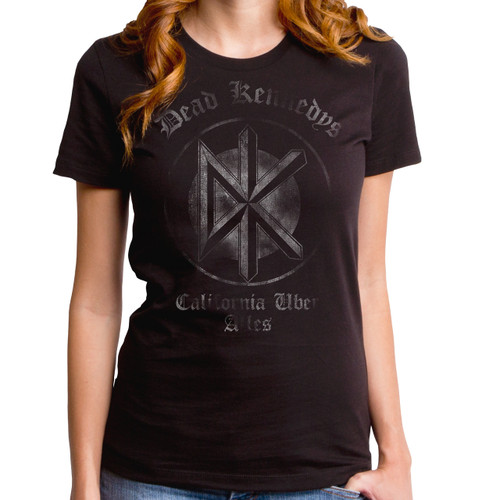 Image for Dead Kennedys California Uber Alles Distressed Juniors T-Shirt