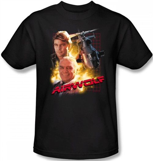 Image Closeup for Airwolf T-Shirt