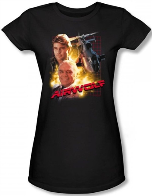 Image for Airwolf Girls Shirt