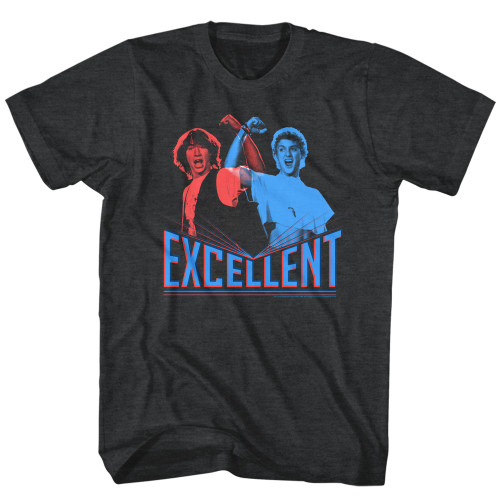 Image for Bill & Ted's Excellent Adventure Heather T-Shirt - 3D Excellent