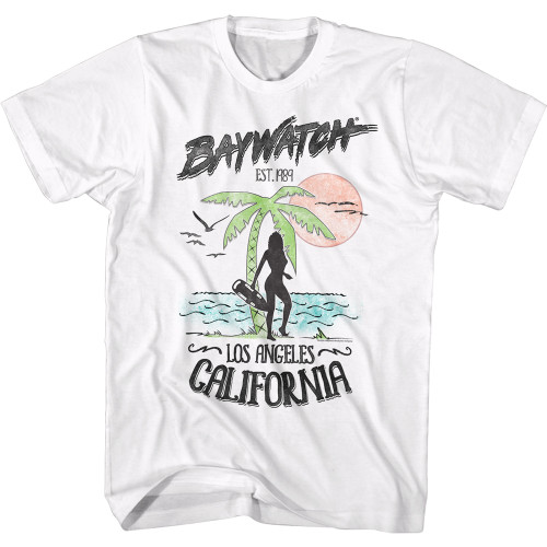 Image for Baywatch T-Shirt - Los Angeles CA 1989