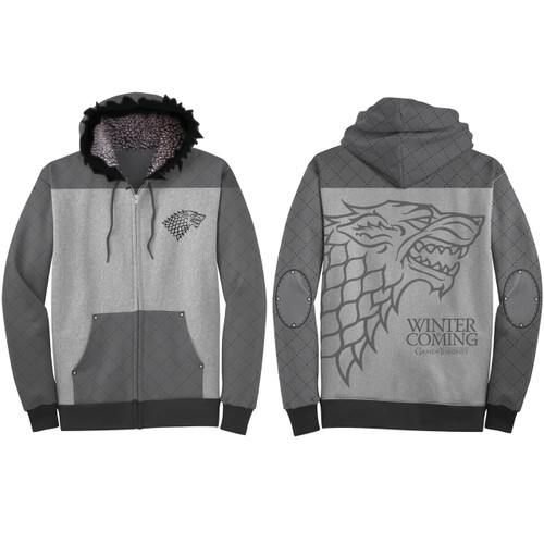 Image for Game of Thrones Zip Up Hoodie - House Stark