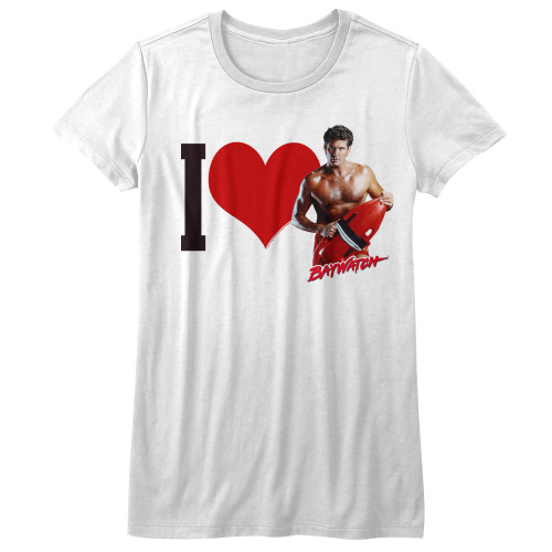 Image for Baywatch I Heart the Hoff Girls T-Shirt