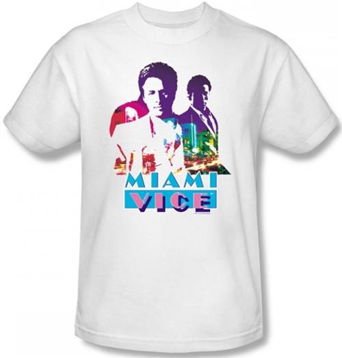 Image Closeup for Miami Vice Crockett and Tubbs T-Shirt