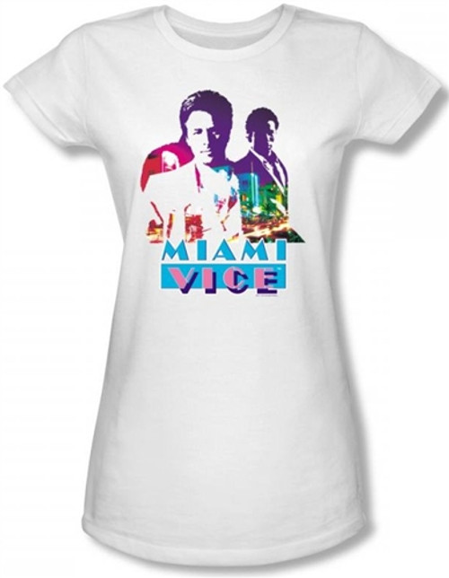 Image for Miami Vice Crockett and Tubbs Girls Shirt