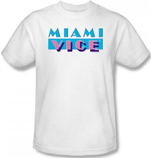 Image Closeup for Miami Vice Logo T-Shirt