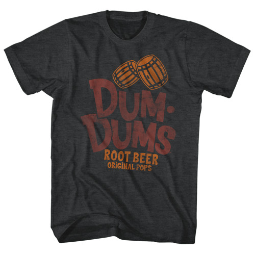 Image for Dum Dums Heather T Shirt - Root Beer