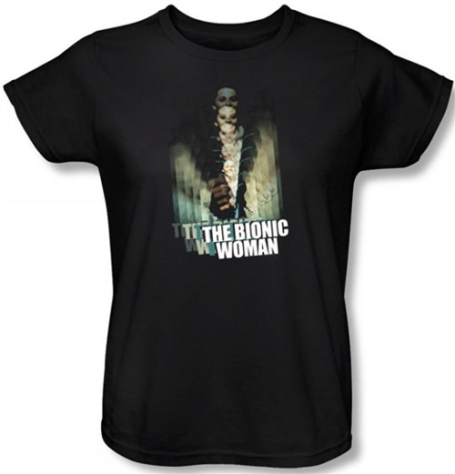 Image for The Bionic Woman Motion Blur Woman's T-Shirt