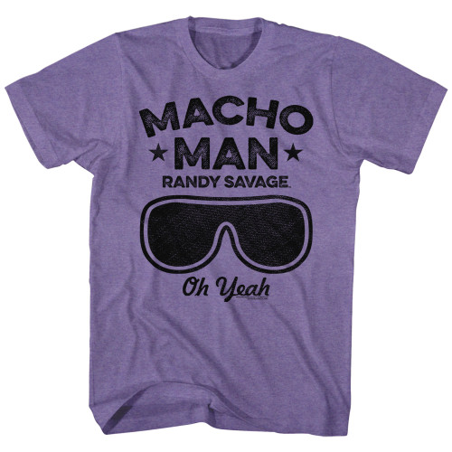 Image for Macho Man Heather T-Shirt - Oh Yeah