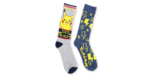 Image for Pokemon Picachu 2 Pack Socks