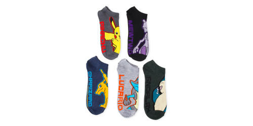 Image for Pokemon Assorted 5 Pack Ankle Socks