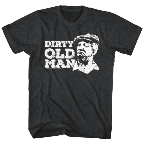 Image for Redd Foxx Heather T-Shirt - Dirty Old Man