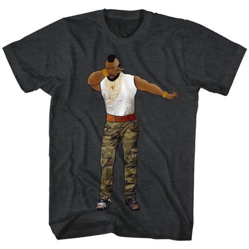 Image for Mr. T Heather T-Shirt - Dabbin'