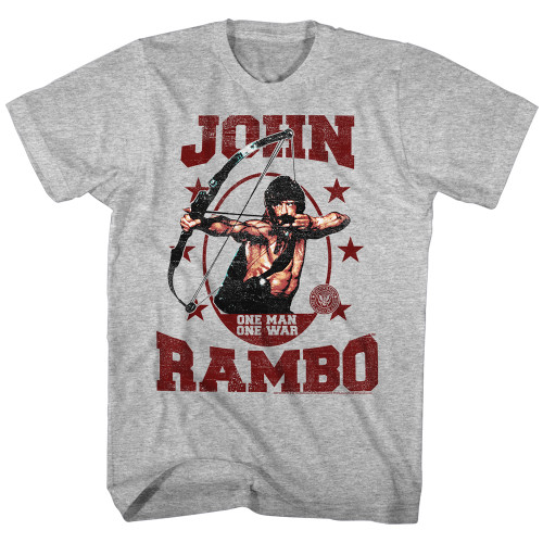 Image for Rambo Heather T-Shirt - One Man One War