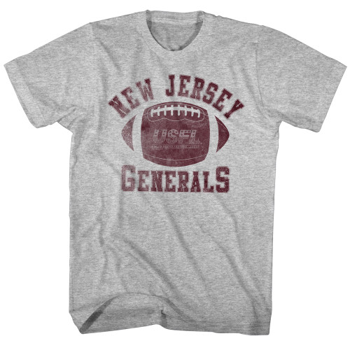 Image for U.S. Football League Heather T-Shirt - New Jersey Generals