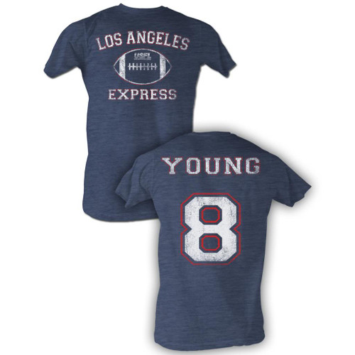 Image for U.S. Football League Heather T-Shirt - LA Express Young 8